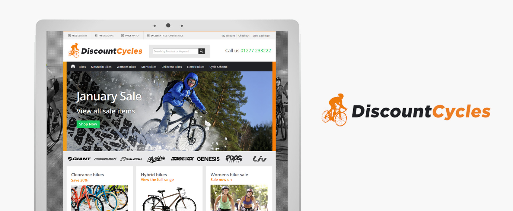 Discount Cycles E-commerce website