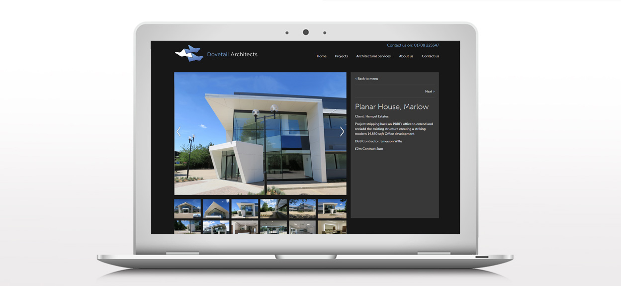 Dovetail Website Projects Page
