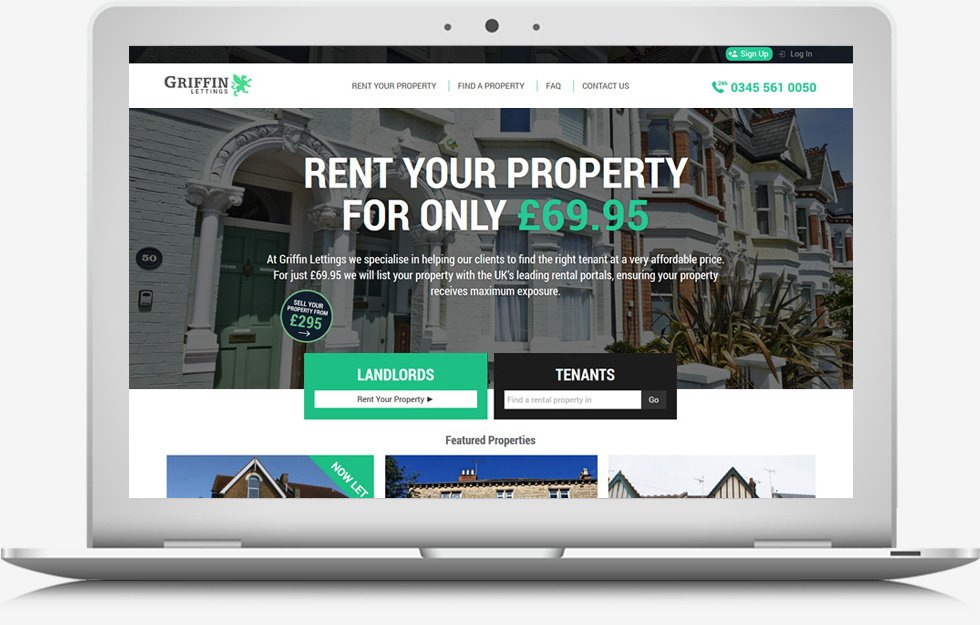 Web Design Essex - Griffing Lettings Website