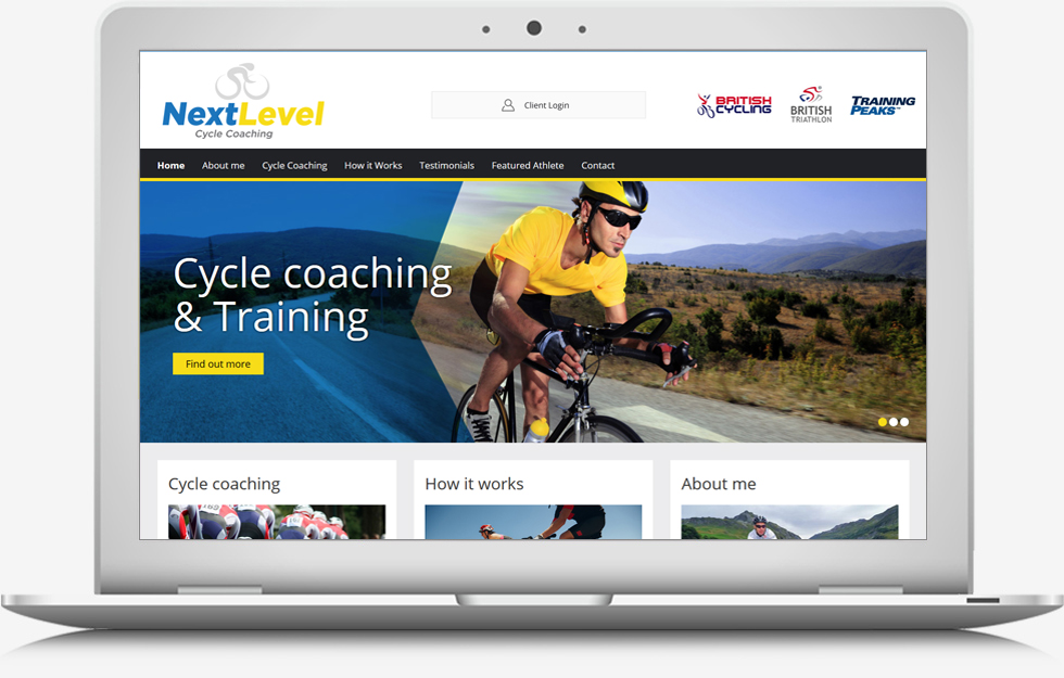 Next Level Cycle Coaching Website
