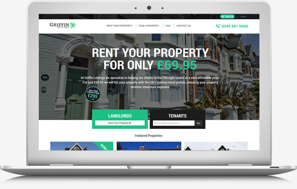 WFeatured Website - Griffin Lettings