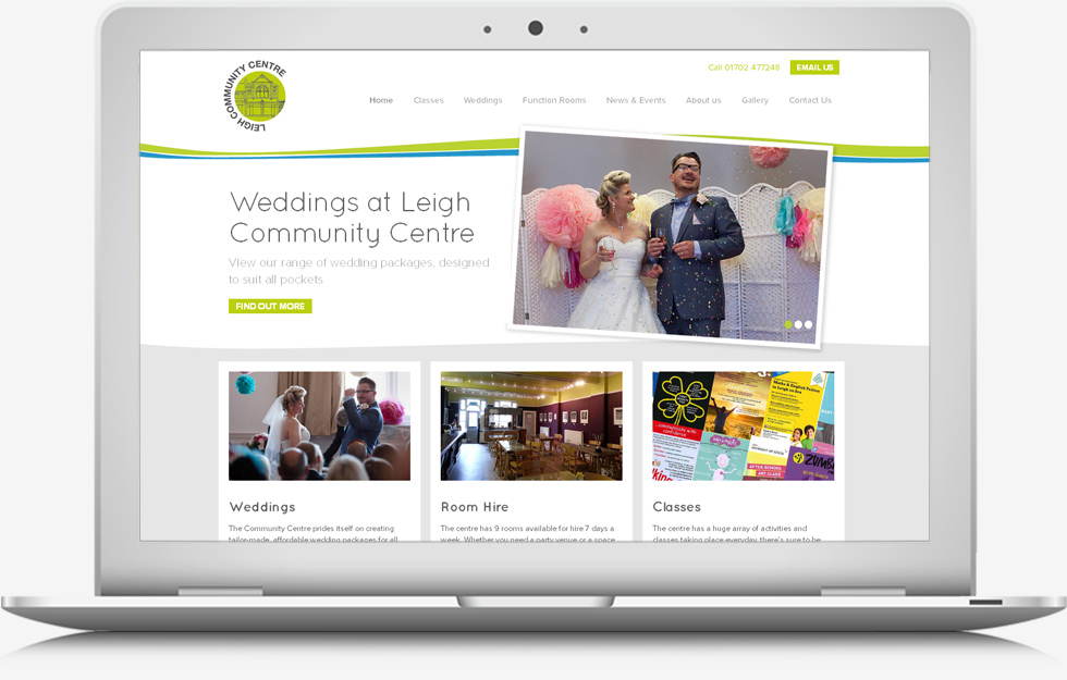 Web Design Leigh on Sea - Community Centre